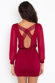 Lily Lattice Dress - Wine