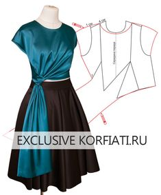 Pattern blouses with curtains from Anastasia Korfiati Dress Sewing Patterns, Blouse Patterns, Clothing Patterns, Blouse Designs, Skirt Patterns, Coat Patterns, Pattern Sewing, Pattern Draping, Bodice Pattern