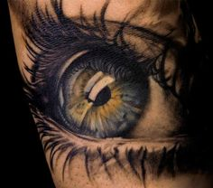Realistic eye tattoo c: