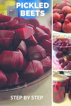 How to make Pickled Beets.  A step by step to can them at home.