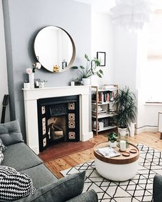 Monochrome living room, Victorian terrace