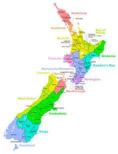 Las regiones para trabajar en Nueva Zelanda