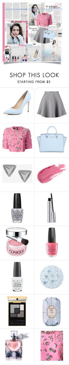 outfit of the day by Sasoza by sasooza on Polyvore featuring mode, Emanuel Ungaro, Tiger of Sweden, River Island, MICHAEL Michael Kors, Stephen Webster, Express, Clinique, New CID Cosmetics and Lancôme