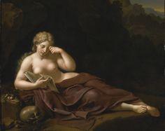 Penitent Magdalene (1717). Bartholomeus Douven (German, 1688- after 1726). Oil on panel.