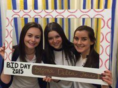 We love the baseball bid day theme from Columbia Univ. this year!