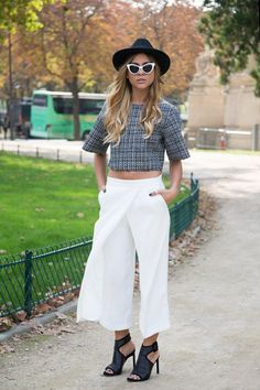 "How to Wear Culottes - tips and tricks on how to style the ""It"" item of the year. 