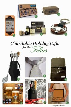 Things Festive Weddings & Events: Charitable Holiday Gifts for Men