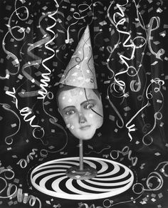 Birthday by Carol Golemboski Toned silver gelatin print Vintage Props, White Magic, Image Makers, Fractions, The Conjuring, The Magicians, Fine Art Photography, Surrealism, Illusions