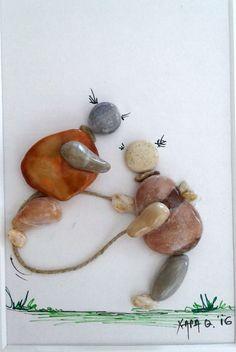 pebble art by Hara                                                                                                                                                                                 Mais