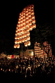Kanto Matsuri (Festival) in Akita - this is so natsukashi. I would travel from Morioka, every year to participate with friends in this matsuri..good memories