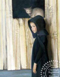 Pensive Cat - Nancy Noel, artist
