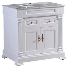 Jsi Danbury White Bathroom 24 W Vanity Cabinet Base 2 Doors Solid Wood Frame White Bathrooms