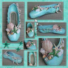 Mermaid ballet slippers