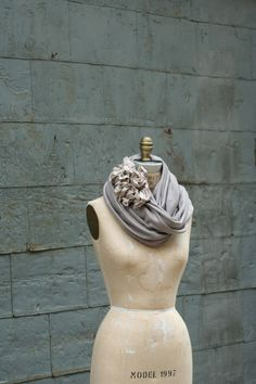 I love the flowers on this scarf
