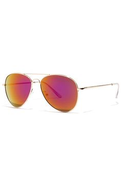 Fly By Night Gold and Purple Mirrored Aviator Sunglasses ?utm_source=pinterest&utm_medium=social&utm_campaign=swellmayde