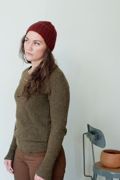 broken rib hat designed by dawn catanzaro / in quince & co. ibis / color austin / free pattern on the quince blog