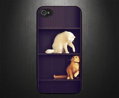 iPhone 5 case, iPhone 5 cover, Cat Plays on shelf by CaseBasement on Etsy