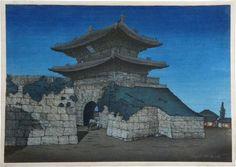 Scholten Japanese Art | Woodblock Prints | Elizabeth Keith East Gate, Seoul by Moonlight