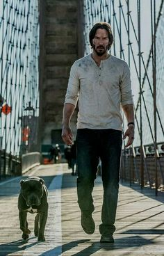 Keanu Reeves returns as John Wick Keanu Reeves John Wick, Keanu Charles Reeves, Baba Yaga, John Wick Film, Keanu Reaves, National Puppy Day, Film Serie, Photomontage, Cute Photos