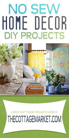 No-Sew Home Decor DIY Projects - The Cottage Market #NoSewHomeDecorDIYProjects, #DIYNo-SewProjects, #No-Sew, #NoSew, #No-SewProjects