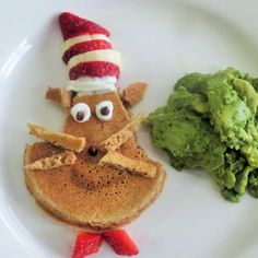 Today is Dr. Seuss ' birthday, a day to celebrate the joy of reading and to have a little fun with the kids! Today also kicked off my son's read-a-thon at school. What better way to gear him up for reading than with an adorable breakfast that reminds him of one of the authors that inspires...
