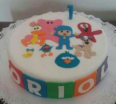 Tarta de Pocoyo y sus amigos!! Felicidades pequeño!!