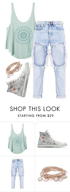 """•chįll•"" by jjjunebug2 ❤ liked on Polyvore featuring RVCA, Converse and Marjana von Berlepsch"