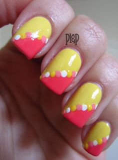 Peace, Love and Polish: Summer Challenge: Tropical Drinks Gorgeous Nails, Pretty Nails, Nice Nails, French Acrylic Nails, French Nails, Beautiful Nail Designs, Cute Nail Designs, Manicure And Pedicure, Manicure Ideas