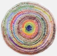 par Lisa Kobin, artiste. Elle travaille principalement avec des matériaux de récupération (tissus, papiers, boutons), et leur donne une nouvelle vie!
