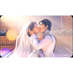 Rapunzel & Eugene's wedding. IS IT JUST ME OR DOES RAPUNZEL'S HAIR GROW JUST A TINY BIT WHEN THEY KISS? (Tangled)