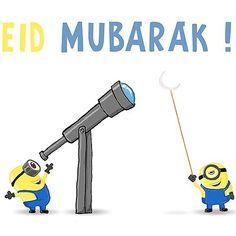 Eid Mubarak from Minions Funny Eid Mubarak, Eid Mubarak Quotes, Eid Mubarak Wishes, Eid Mubarak Greetings, Eid Quotes, Adha Mubarak, Ramadan Mubarak, Laylat Al Qadr, Ramadan Poster