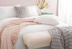 blush, white and grey palette  Need this as my bedding pronto. I will accept nothing less.