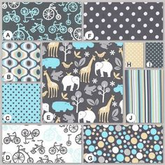 Made To Order You Design 4pc. Crib Bedding Set in by maxandgrace, $389.00