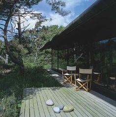 Arkitekt Knud Holscher's sommerhus. Foldestole