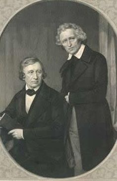 """The Brothers Grimm, Jacob (1785–1863) and Wilhelm Grimm (1786–1859), were German cultural researchers and authors who together specialized in collecting and publishing folklore during the 19th century. They were among the best-known storytellers of folk tales, and popularized stories such as """"Cinderella"""", """"The Frog Prince"""", """"Hansel and Gretel"""", """"Rapunzel"""", """"Rumpelstiltskin"""", and """"Snow White"""". Their first collection of folk tales, Children's and Household Tales was published in 1812."""