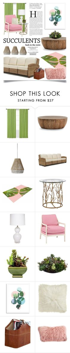 """Cacti + Succulents"" by ittie-kittie on Polyvore featuring interior, interiors, interior design, home, home decor, interior decorating, Waverly, Arteriors, Home Styles and West Elm"