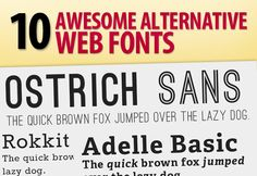 10 Awesome Alternative Free Web Fonts