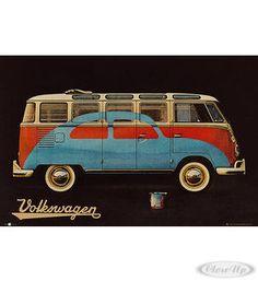 VW Camper Van Poster Bulli T1 / 2 CV Lackierung Hier bei www.closeup.de