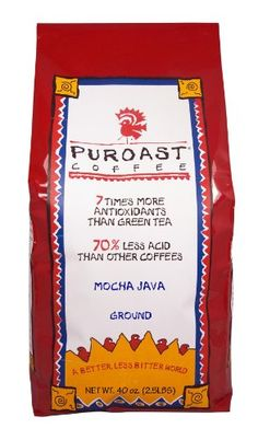 Puroast Low Acid Coffee Mocha Java Flavored Coffee Drip Grind 25Pound Bag *** Click on the image for additional details.