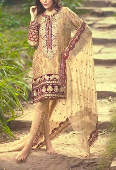 Buy Beige Embroidered Chiffon Salwar Kameez by Mina Hasan 2015 Call: (702) 751-3523 Email: Info@PakRobe.com www.pakrobe.com https://www.pakrobe.com/Women/Clothing/Buy-Designer-Chiffon-Dresses #DESIGNER #CHIFFON #DRESSE