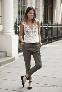 Lace top - Man Repeller Street Style