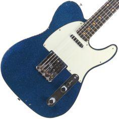 "Fender Custom Shop '60 Telecaster Relic Blue Sparkle - SOLD   Garrett Park Guitars ""Hall of Fame""   www.gpguitars.com"
