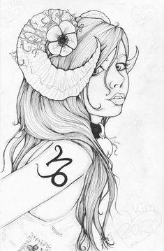 Capricorn Girl Capree by Foux.deviantart.com on @DeviantArt Art © Kimberly Irene Hunt
