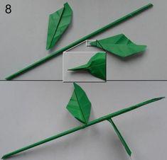 Rose aus Papier falten - Blumen basteln - Anleitung-dekoking-com-8