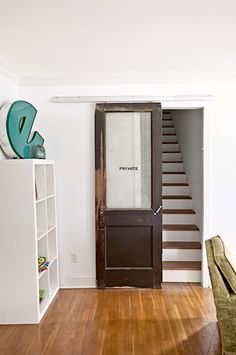 recycled/remade sliding door