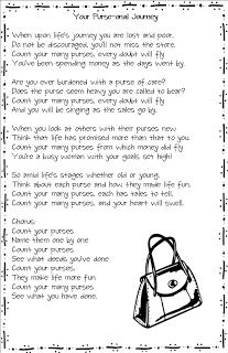 """Updated!! Now includes printable """"purse"""" song/poem We had the most fun activity last night! It was our purse party. The best part about ..."""