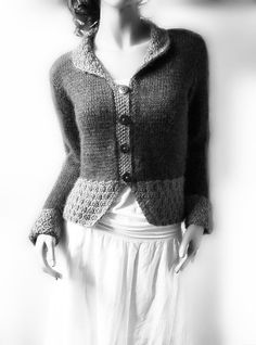 Women's Buttoned Cardigan Knitted Sweater Jacket Custom