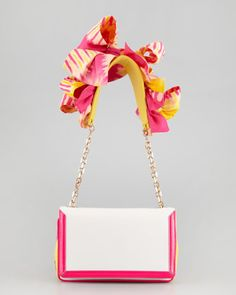 Artemis Flower Shoulder Bag, Rose by Christian Louboutin at Neiman Marcus.