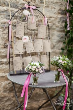 plan de table Seating Chart Wedding, Seating Charts, Wedding Decorations, Table Decorations, Bird Cages, Deco Table, Table Plans, I Fall In Love, Ladder Decor