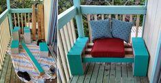 cinder block bench balcony